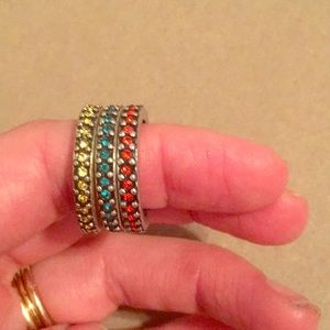 Lia Sophia stackable rings siZe 7
